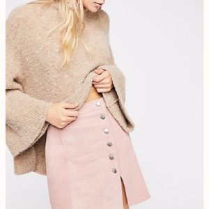 Free People X Understated leather suede mini skirt
